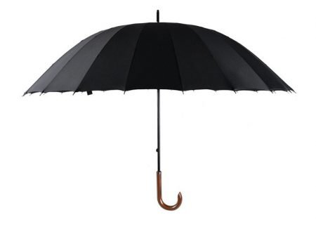 Black Classic straight umbrella