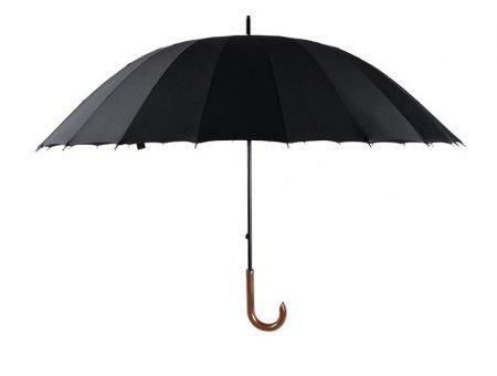 Black Classic straight umbrella