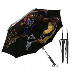Custom golf umbrella double layer printed with bag (1)