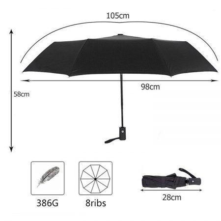 New-Full-Automatic-Umbrella-Rain-Women-Men-3Folding-Light-and-Durable-386g-8K-Strong-Umbrellas-Kids (1)