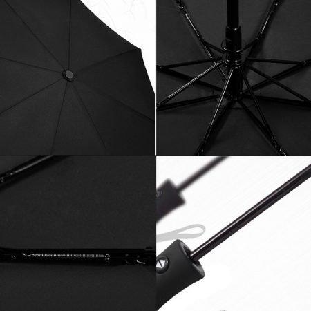New Full Automatic Umbrella Rain Women Men 3Folding Light and Durable 386g 8K Strong Umbrellas Kids 3