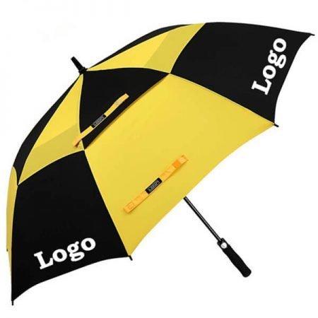 branded golf umbrella with custom printing