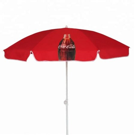 advertising beach umbrella with custom logo printed