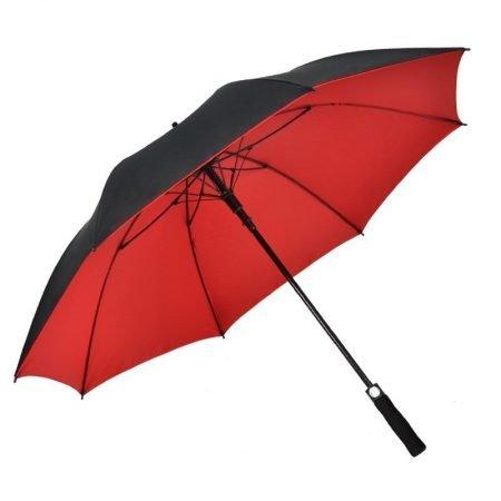 double layer pongee golf umbrella (1)