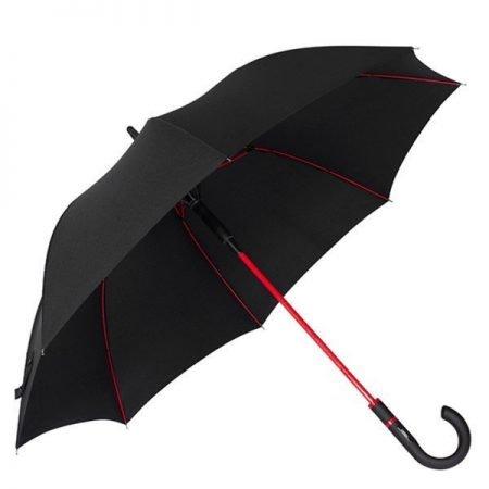 red frame straight umbrella 1