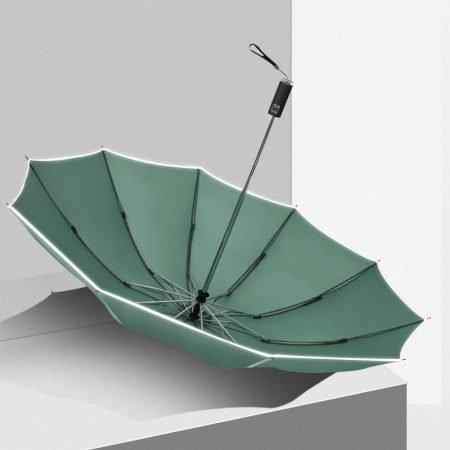 safe folding umbrella 10 bones reflective strip 1