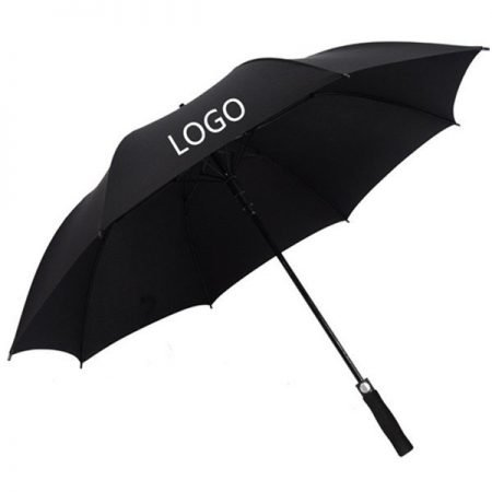 black golf umbrella with logo