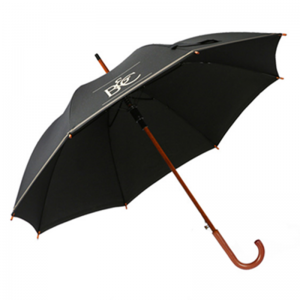 Custom Made Advertising Promotional Wooden Walking Umbrella