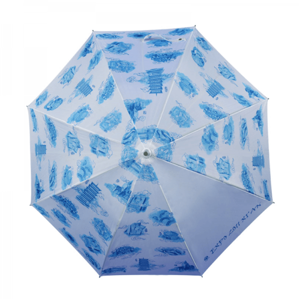 Fancy Design Ladies Straight Umbrella With J Shape Handle