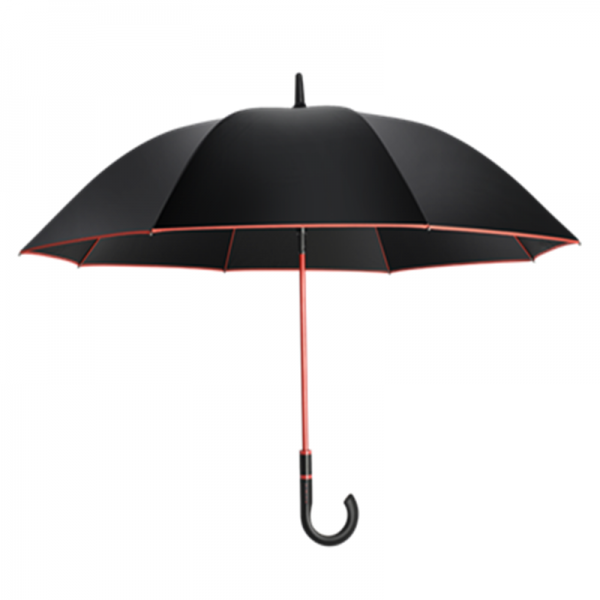 Fashionable Custom Men's Walking Umbrella With Red Frame