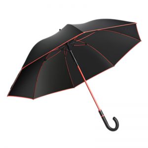 Fashionable Custom Men's Walking Umbrella With Red Frame