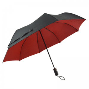 Double Layer Auto Open Close 8K Windproof Rain Business 3 Folding Umbrella