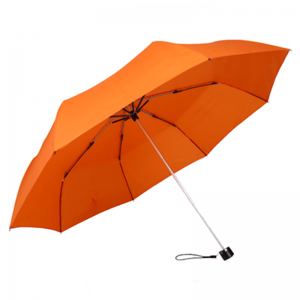 Cheap Price Compact Foldable Lightweight Orange Promotional Folding Umbrella
