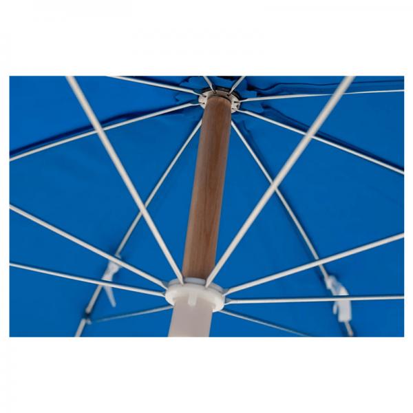 Sun Beach Umbrella With Wood Pole & Carry Bag