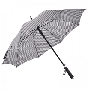 Houndstooth Auto Open Promotional Customized Business Straight Umbrella