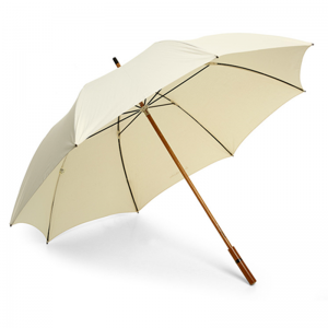 Custom Made Logo Wooden Handle Straight Umbrella