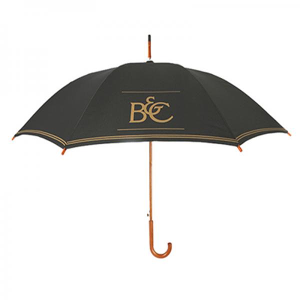 Custom Made Advertising Promotional Wooden Walking Umbrella