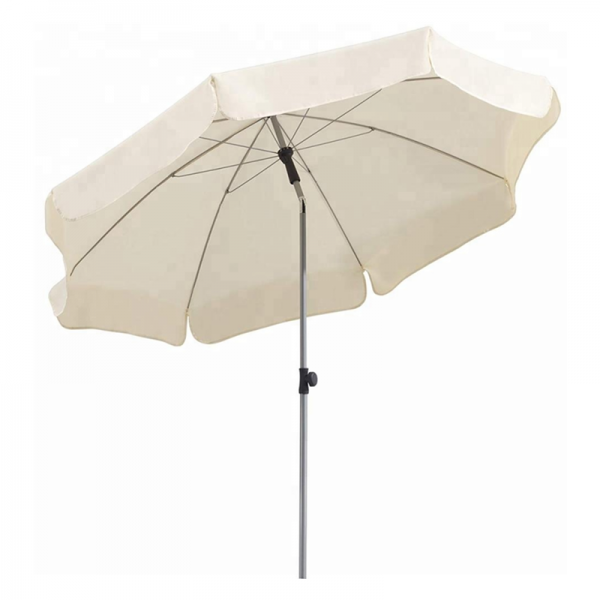 Fashionable Parasol Beach Umbrella White Polyester