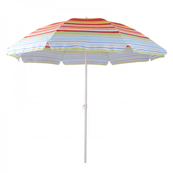 Custom Printed Outdoor Steel Frame Sun Beach Umbrella