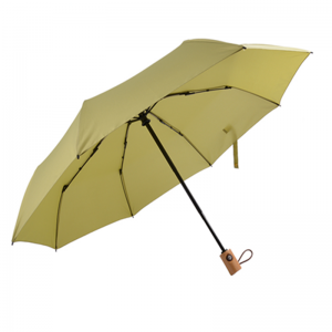 Automatic Wooden Handle Folding Umbrella