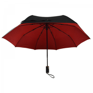 Double Layer Auto Open Close 8K Windproof Rain Business 3 Folding Umbrella
