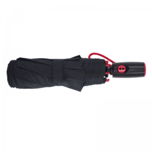 Red Fiberglass Frame Automatic Folding Umbrella