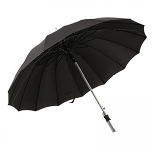 Large Size Aluminum Shaft 16 Metal Ribs Promotional Golf Umbrella