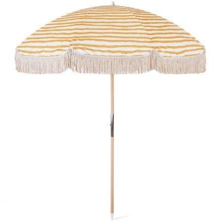 Luxury Tassel Beach Umbrella with Wooden Pole For Shade