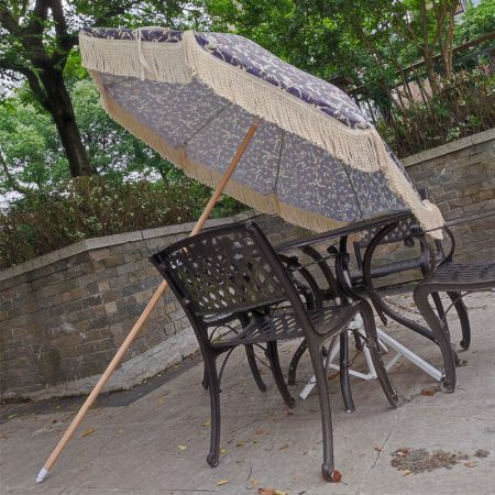 portable beach umbrella with tassels
