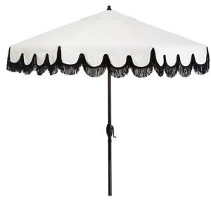 fringed luxury patio umbrella