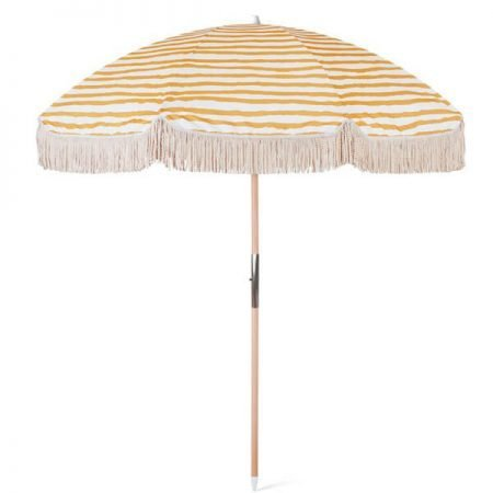 luxury fringed beach umbrella