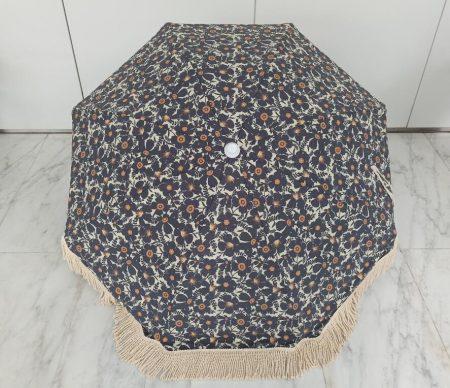 premium beach outdoor parasol with fringes