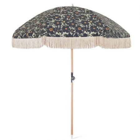 strong quality portable tassel beach umbrella black color