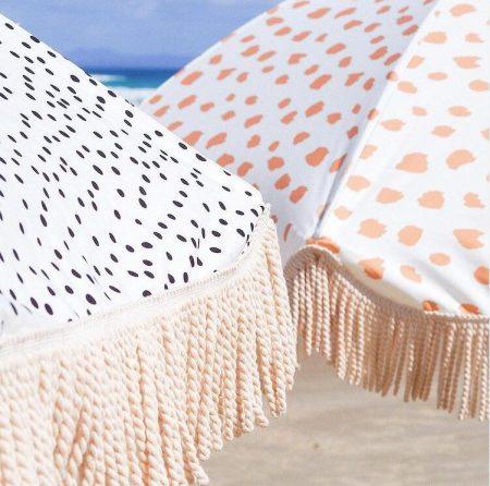 Luxury Tassel Beach Umbrella with Wooden Pole For Shade (3)