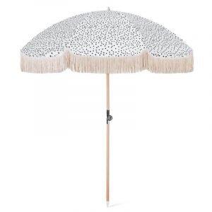 luxury fringed beach umbrella