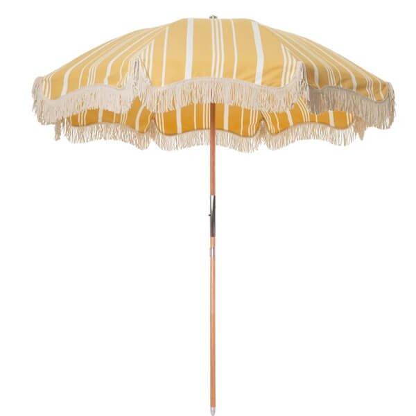 vintage beach umbrella with tassels