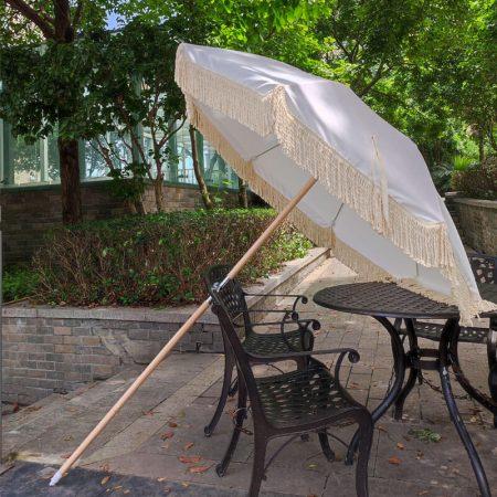 Australia fringed beach umbrella white (1)