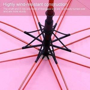double canopy pink golf umbrella 2