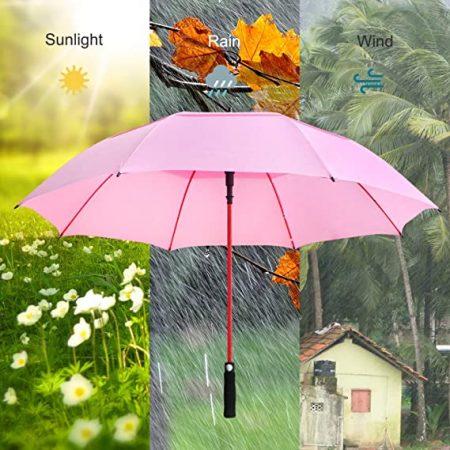 double canopy pink golf umbrella 5