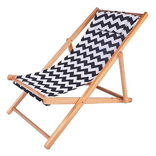 wood sling beach chair