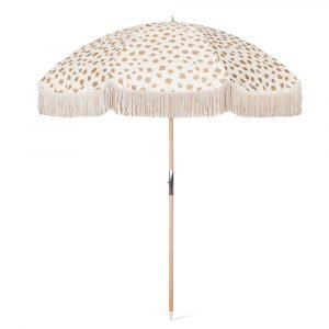 Boutique beach parasol with tassels 200cm (2)