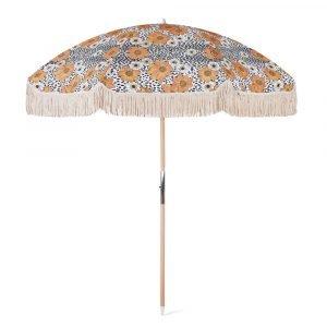 Premium beach umbrella with fringes (1)