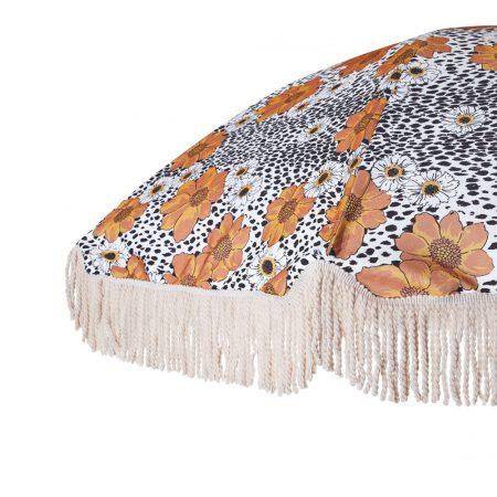 Premium beach umbrella with fringes 4