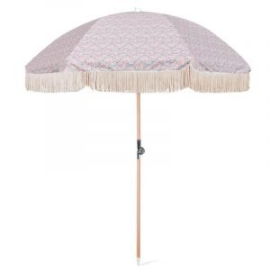 vintage beach umbrella with tassel fringes (2)