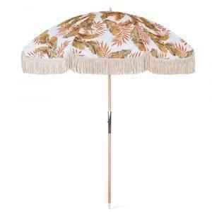vintage beach umbrella with tassel fringes (2)