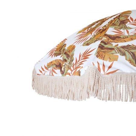 vintage beach umbrella with tassel fringes 3