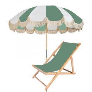 fringed retro patio umbrella
