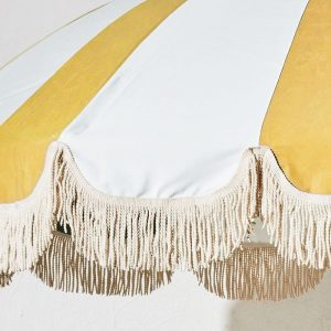 vintage patio umbrella luxury tassels