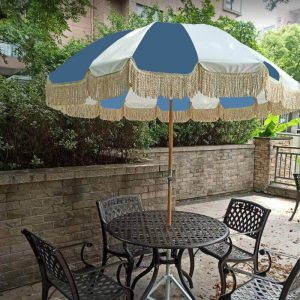 patio parasol with fringes