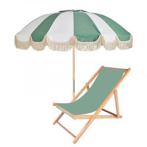 fringed retro patio umbrella